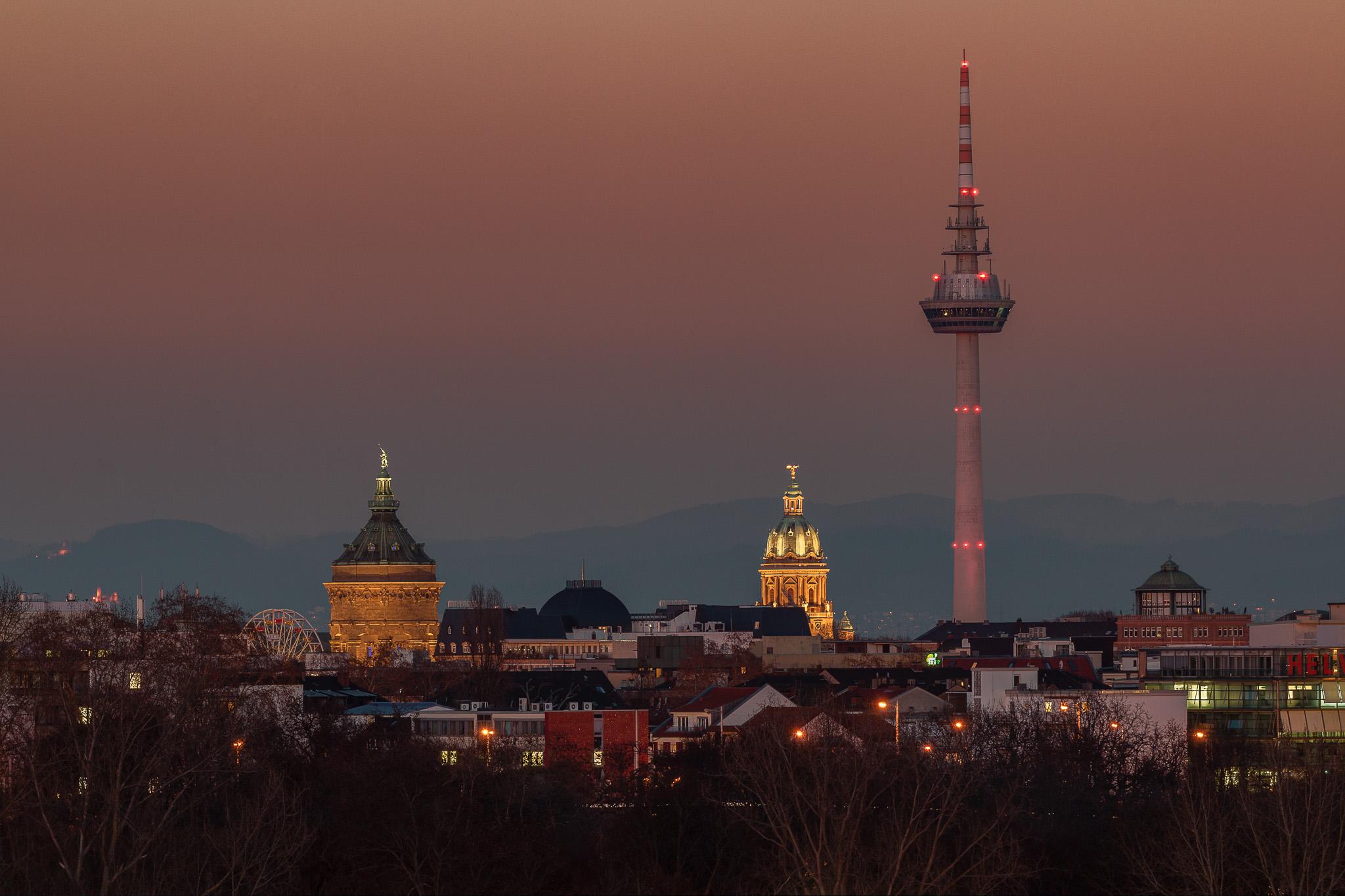 Die Mannheimer Skyline